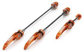 Rychloupínák XLC QR-L05 elox P+Z+sedlovkový set 3ks oranžový