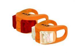 Světla KLS TWINS set přední a zadní blikačka 2ks 2Led 2f orange