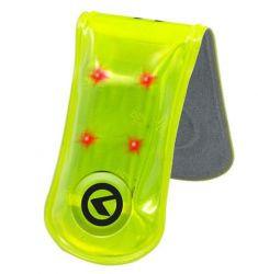 Reflexní LED spona KELLYS TWINKLE PRO 3M Scotchlite 4 led zelená