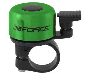Zvonek Force na jízdní kolo zelená elox