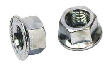 Matice přední osy o 8 mm s přírubou M8 1ks stříbrné Shimano