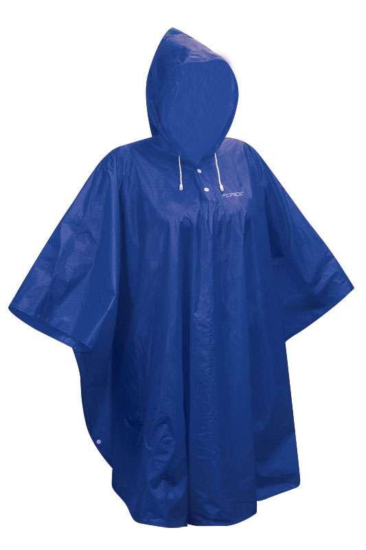 Pláštěnka poncho Force PVC L-XXL modrá