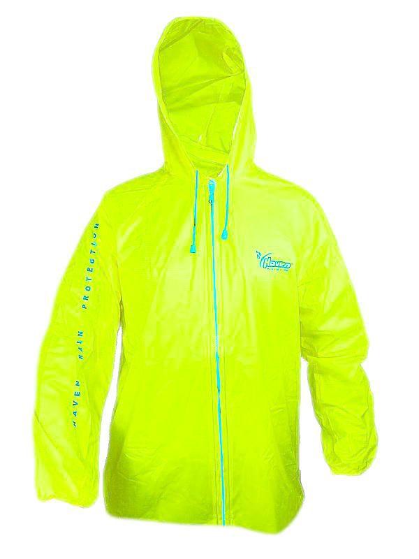 """Pláštěnka Haven CLASSIC II Neon žlutá """"M/L"""" s kapucí"""