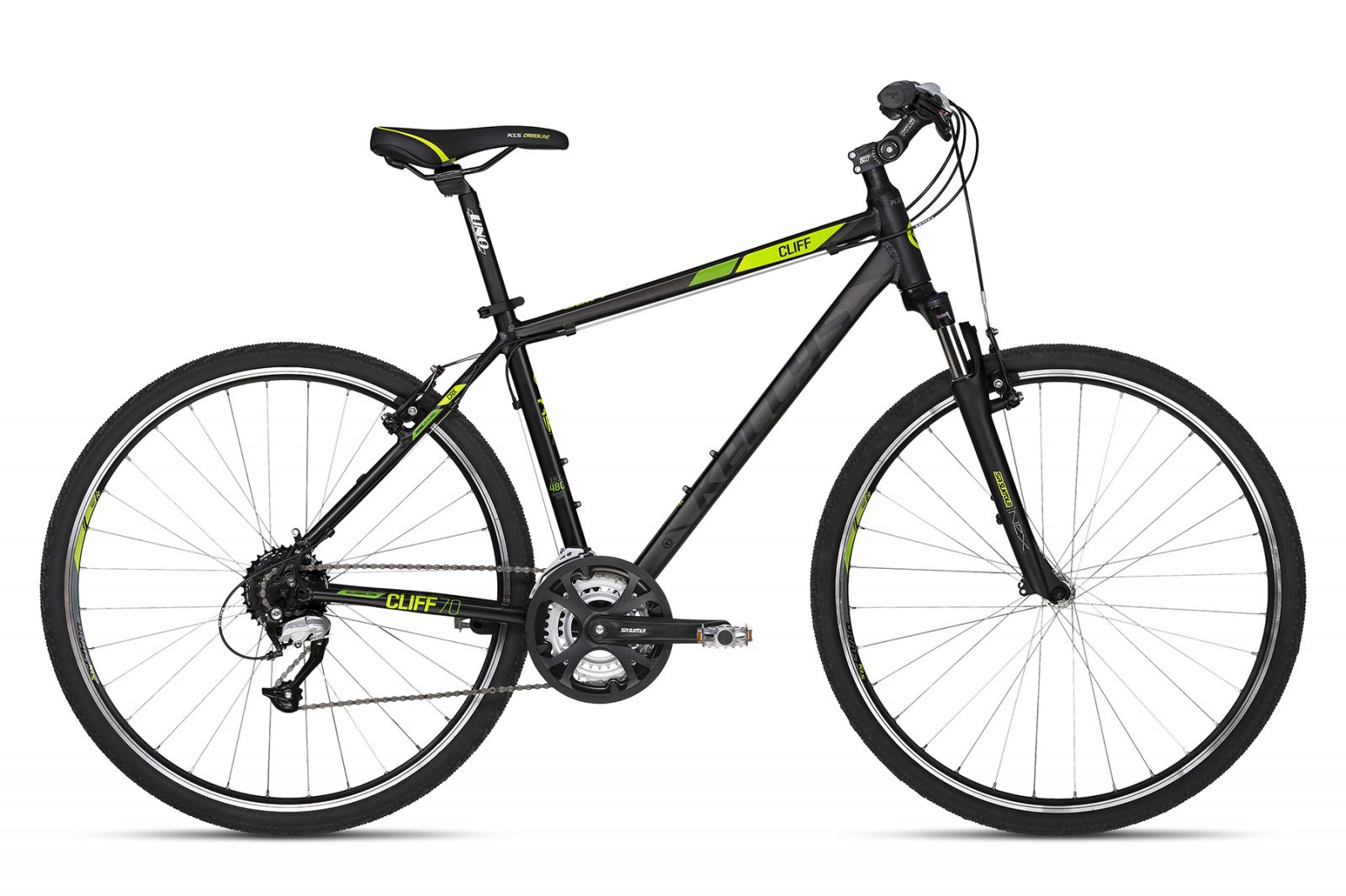 "KELLYS K18173 Cliff 70 Black Green 17"" 2018 Kellys Bicycles"