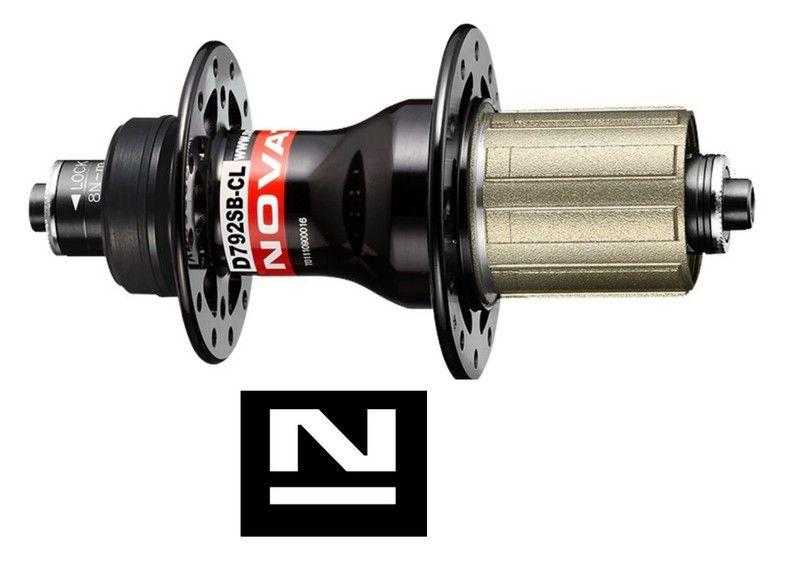 Náboj Novatec D792SB-CL-11S, zadní, 28-děrový, černý (N-logo)