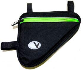 Brašna do rámu Vape trojůhelník 3 kapsy 2x zip 1x síť neon zelená