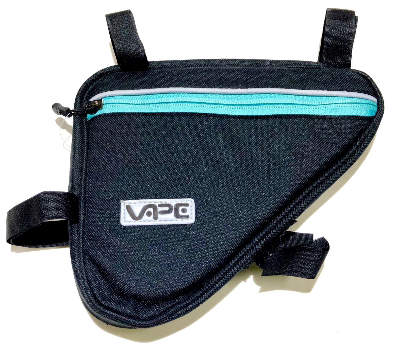 Brašna do rámu Vape trojůhelník 3 kapsy 2x zip 1x síť surf blue