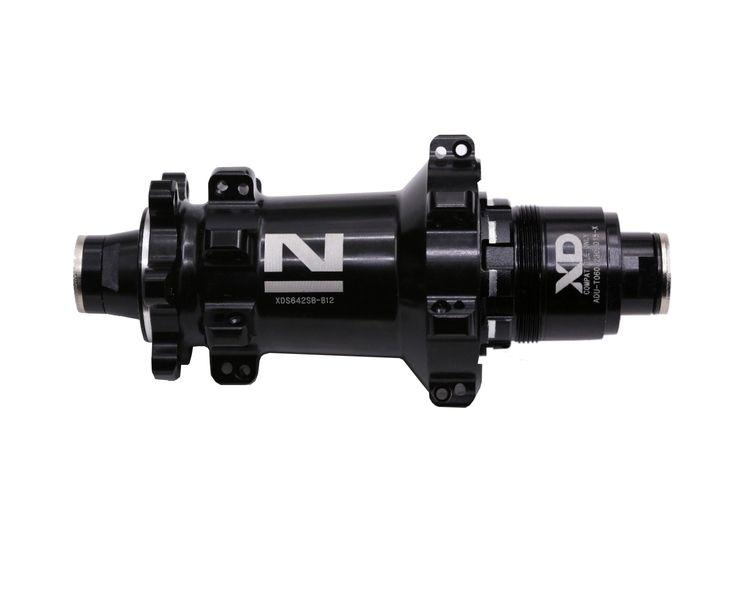Náboj Novatec XDS462SB-B12-XD (boost), černý, 28-děrový (N-logo)