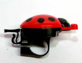Zvonek beruška Pro-T ecco na jízdní kolo červená