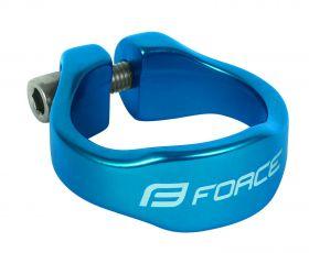 Objímka sedlovky Force 31,8mm AL modrá