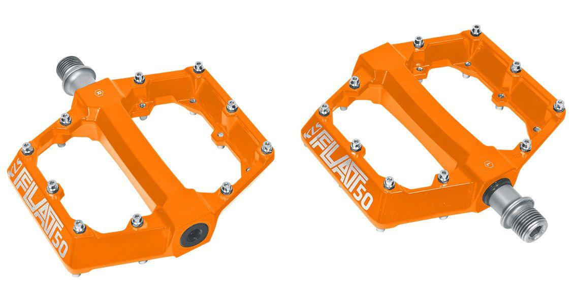 Pedály KLS FLAT 50 orange BMX / MTB prúmyslová ložiska oranžové Kellys