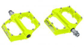 Pedály KLS FLAT 50 yellow BMX / MTB prúmyslová ložiska fluo