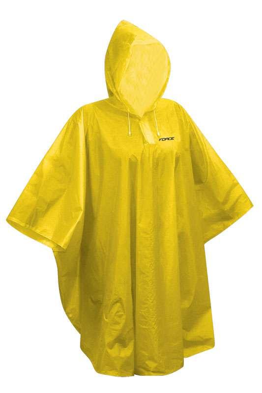 Pláštěnka poncho Force PVC L-XXL žlutá