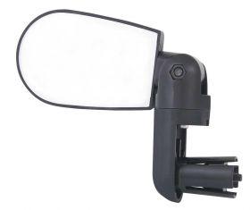 Zpětné zrcátko Force MINI na řidítka oboustranné 80 x 54 černé