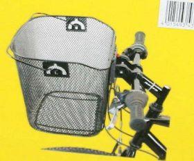 Košík na řídítka Ventura přední oválný s klipem 25,4 - 31,8 červený