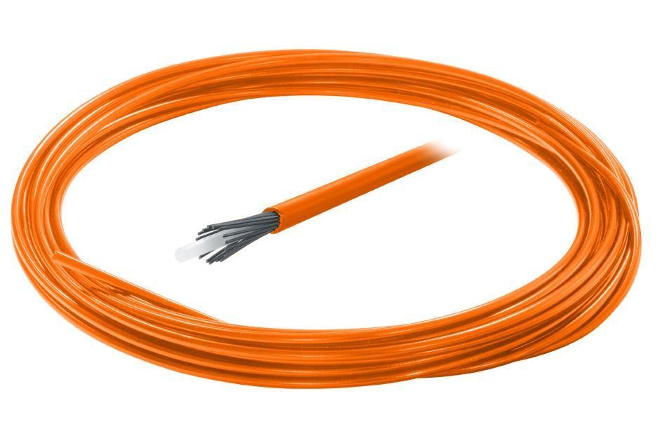 Bowden řadicí 4mm teflon barevný 1 m oranžový KLS