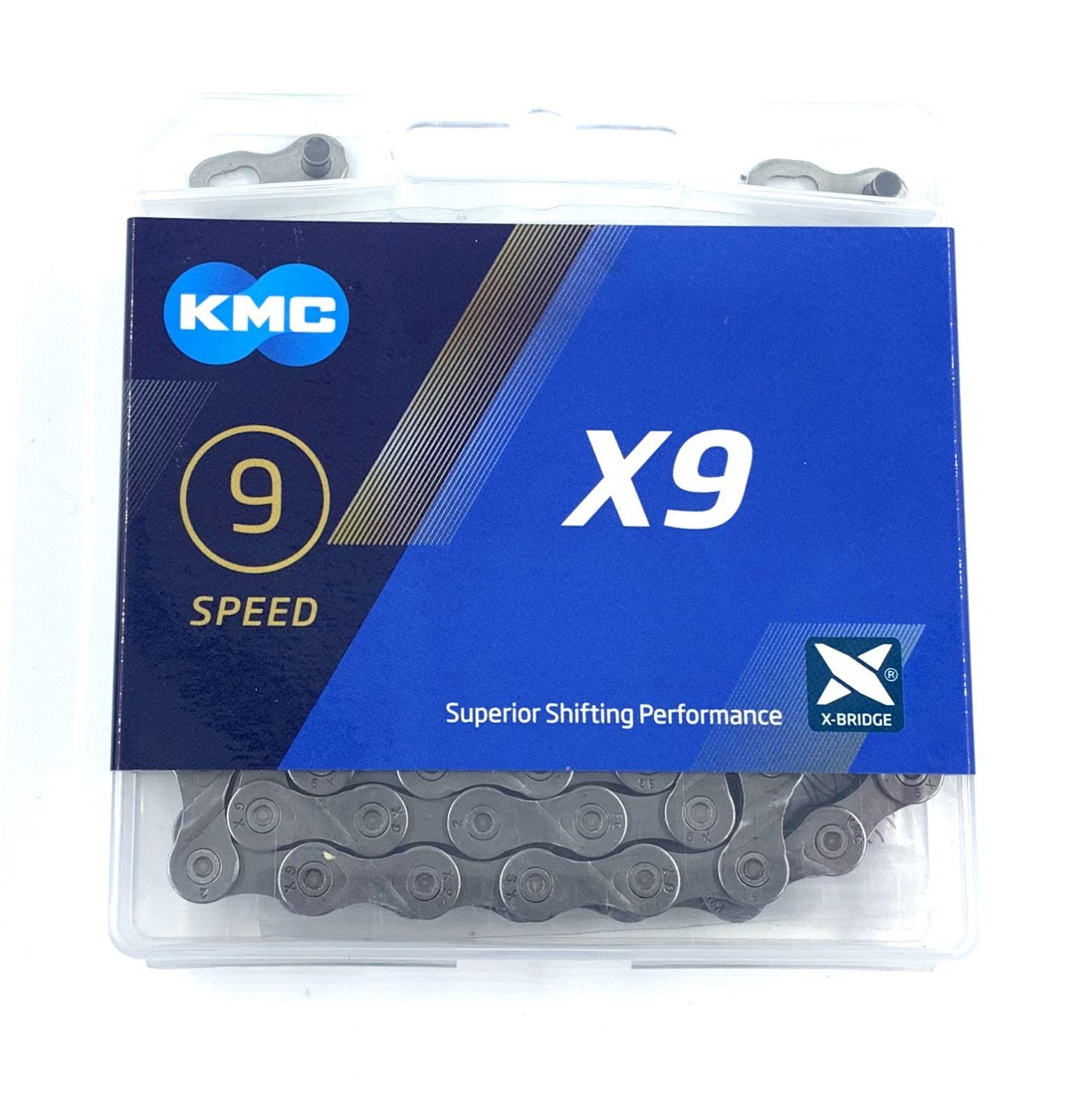 Řetěz KMC X9DS 9 Speed + spojka