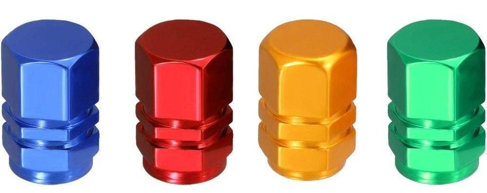 Čepičky na ventilek AV auto 2 ks elox zlatá a2z