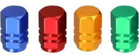 Čepičky na ventilek AV auto 2 ks elox červená a2z