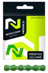 Řetěz Nexelo 1 rychlostní 1/2x1/8 Single Speed + spojka zelený