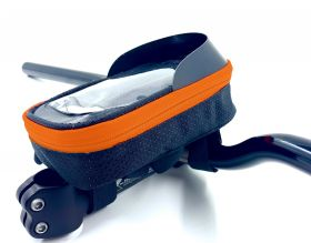 """Brašna Vape Transformer 5"""" na řídítka pro smartfone oranžová fluo"""