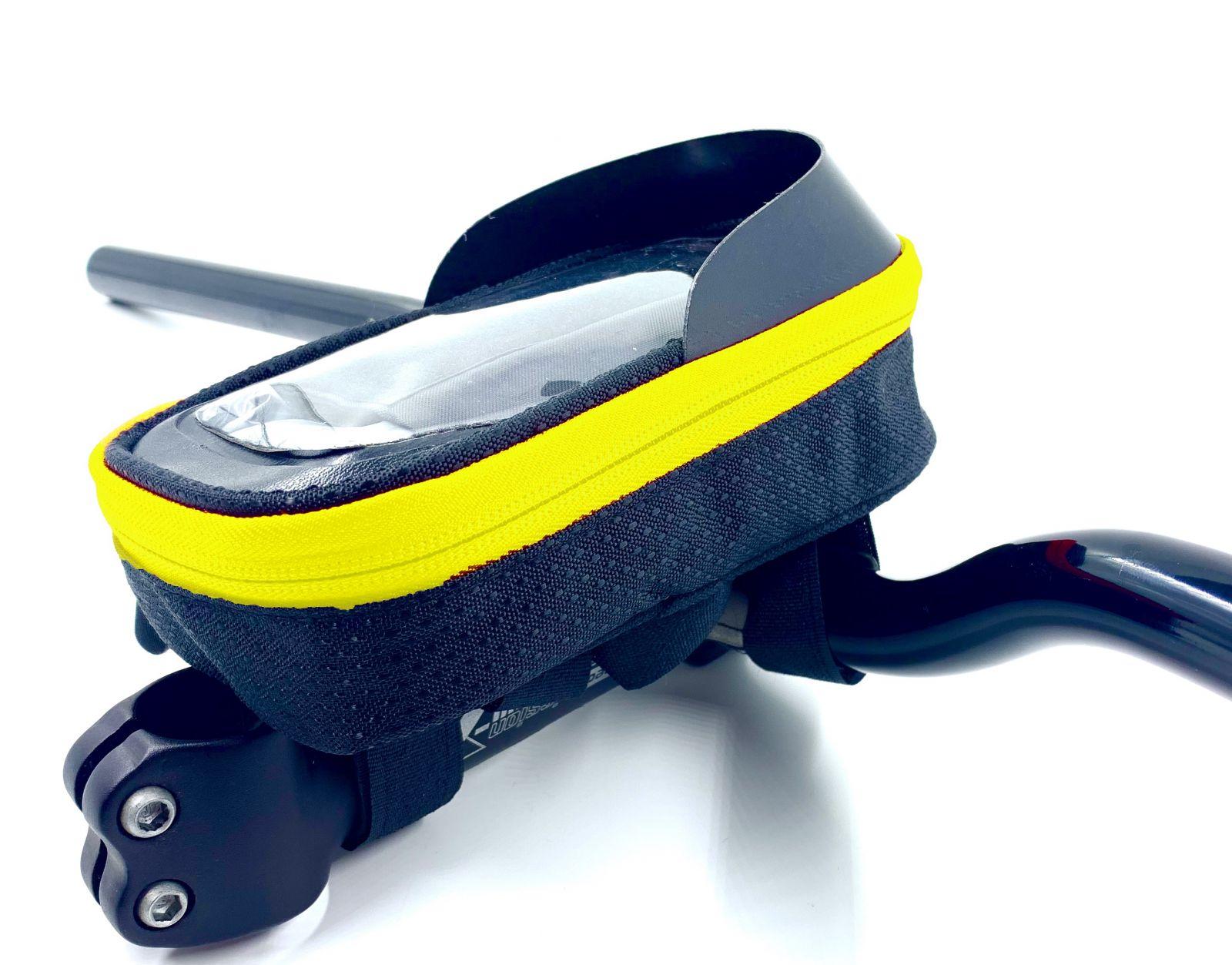 Brašna Vape Transformer na řídítka pro smartfone žlutá fluo