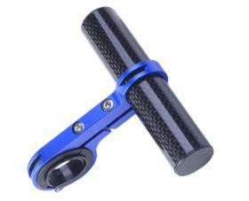 Držák na řídítka AL posuvná tyčka 22.2 - 32 mm extender Modrá / Carbon