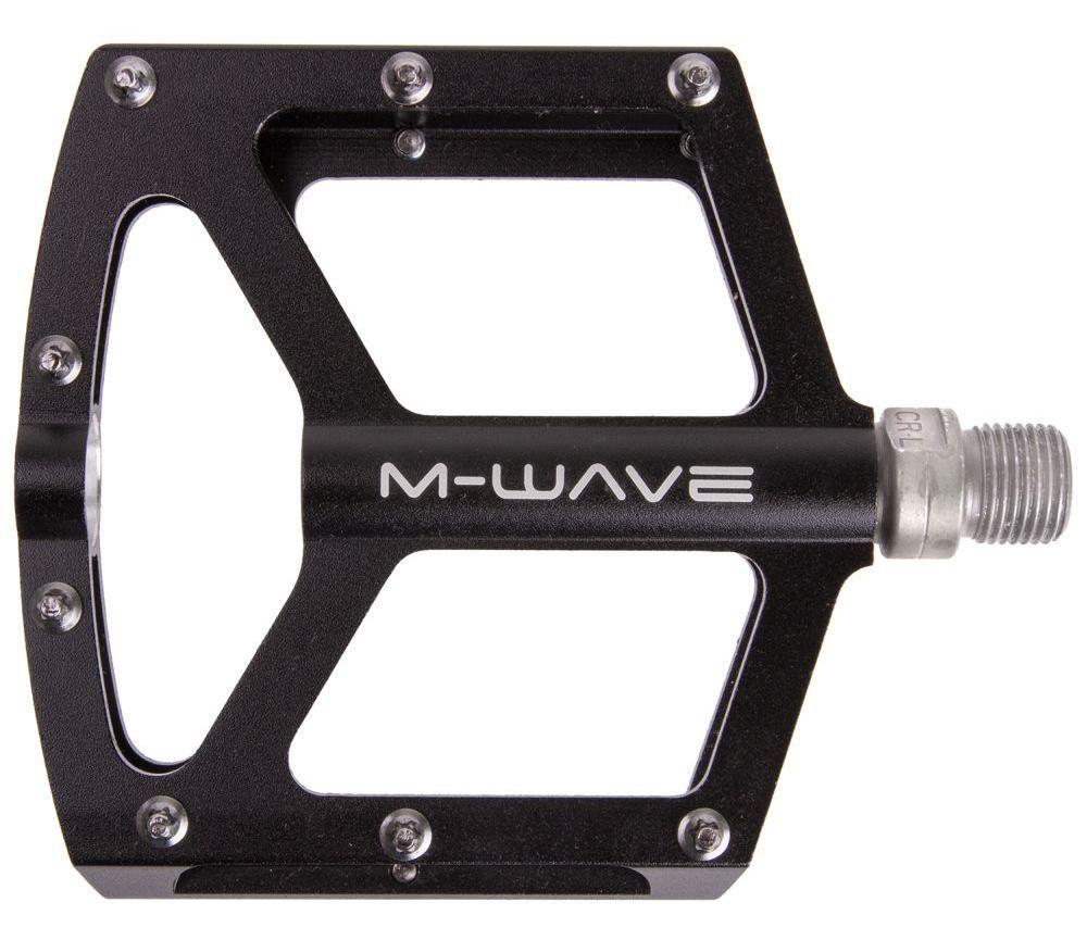 """Pedály M-wave AL CNC CR-MO """"Y"""" průmyslová ložiska černá"""