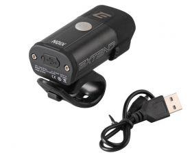 Světlo přední Extend NOIX 400 lumenů 1x SuperBright LED USB černá
