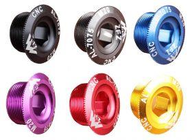 Pojistná matice do klik 20 mm AL CNC pojistný šroub osy M20 1ks černá Bike tuning centrum