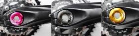 Pojistná matice do klik 20 mm AL CNC pojistný šroub osy M20 1ks zelená Bike tuning centrum