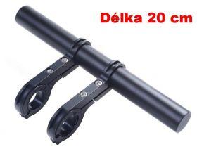 Držák na řídítka AL posuvná tyčka 20cm 22.2-32mm extender černá