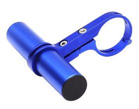 Držák na řídítka AL posuvná tyčka 22.2 - 32 mm extender modrá