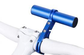 Držák na řídítka AL posuvná tyčka 22.2 - 32 mm extender modrá Bike tuning centrum