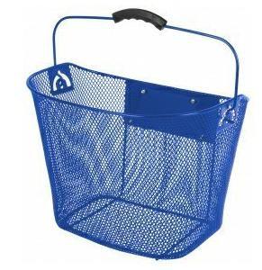 Košík na řídítka Ventura přední oválný s klipem 25,4 - 31,8 modrý