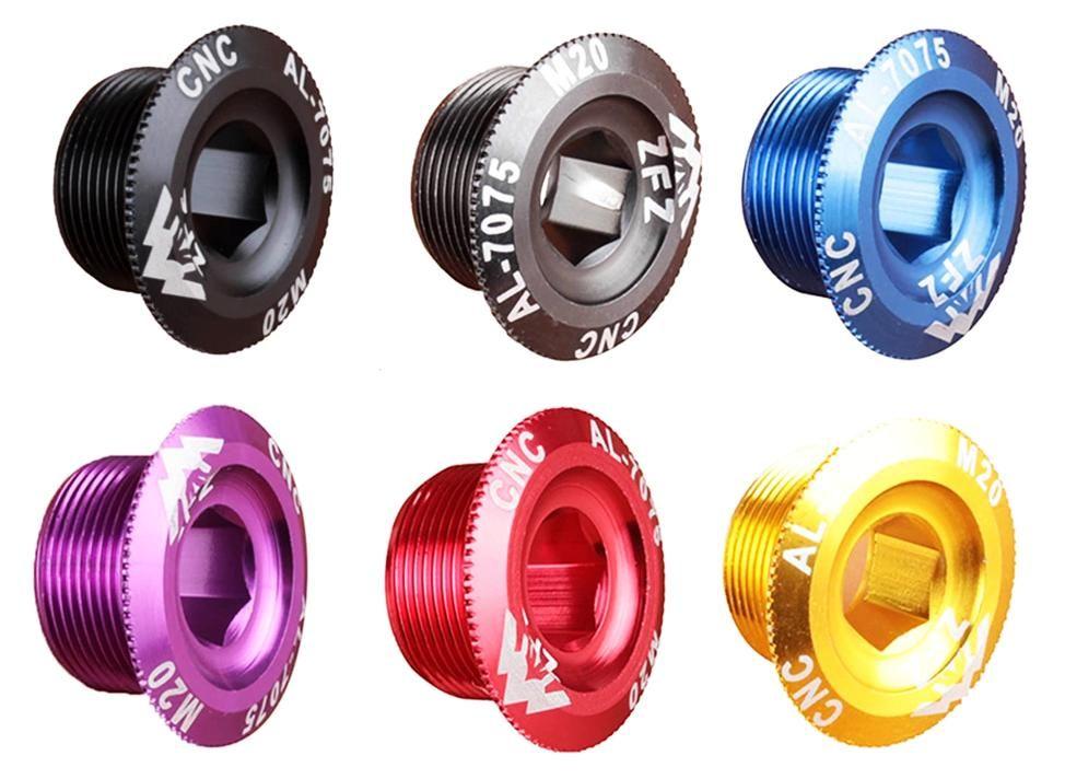 Pojistná matice do klik 18 mm AL CNC pojistná matice osy M18 1ks červená Bike tuning centrum