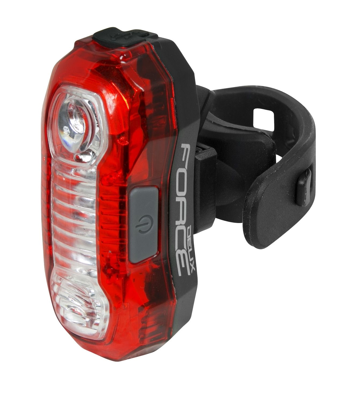 Svetlo zadní blikačka zadní FORCE DEUX 5 LED 40 lm USB vysoká svítivost!