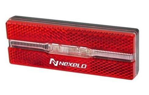 Zadní světlo Nexelo odrazka na nosič 2led bat. 100 x 35 x 18 mm KLS