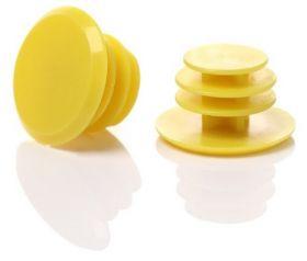 Zátky do řídítek špunty set 2ks žlutá