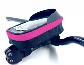 """Brašna Vape Transformer 6.5"""" na řídítka pro smartfone ružová fluo"""