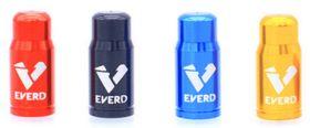 Čepičky na ventilek EVERT FV galuskový 2 ks elox černá