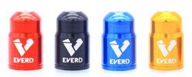 Čepičky na ventilek EVERT AV autoventil 2 ks elox černá