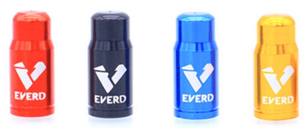 Čepičky na ventilek EVERT FV galuskový 2 ks elox červená a2z