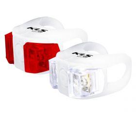 Světla KLS TWINS set přední a zadní blikačka 2ks 2Led 2f white