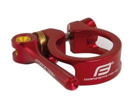 Objímka sedlovky Force 31,8mm s rychloupínákem červená