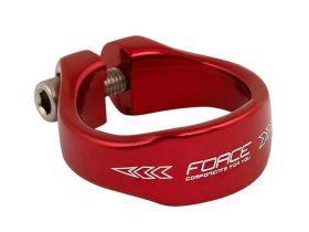 Objímka sedlovky Force 34,9mm AL červená