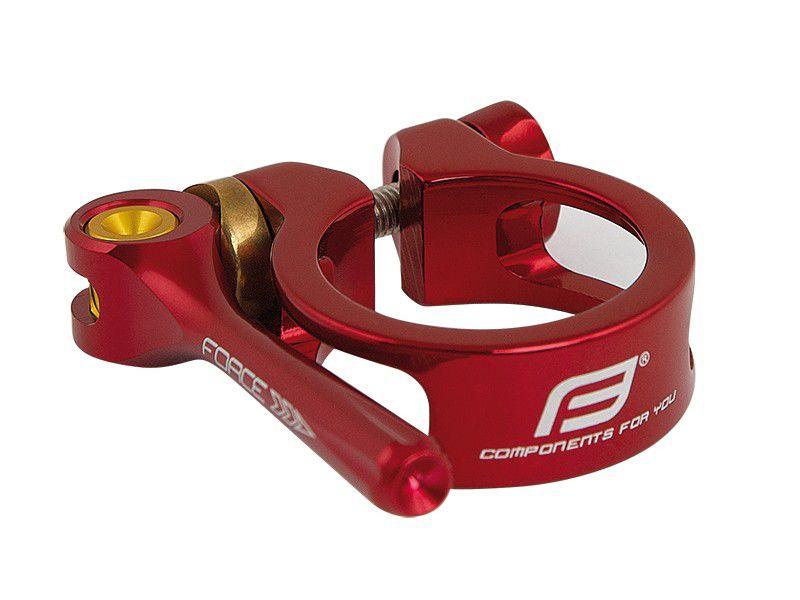 Objímka sedlovky Force 34,9mm s rychloupínákem červená