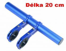 Držák na řídítka AL posuvná tyčka 20cm 22.2-32mm extender modrá