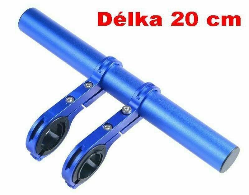 Držák na řídítka AL posuvná tyčka 20cm 22.2-32mm extender modrá Bike tuning centrum