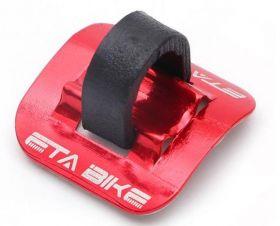 Příchytka hydraulické brzdové hadice a bowdenu na rám 1ks red